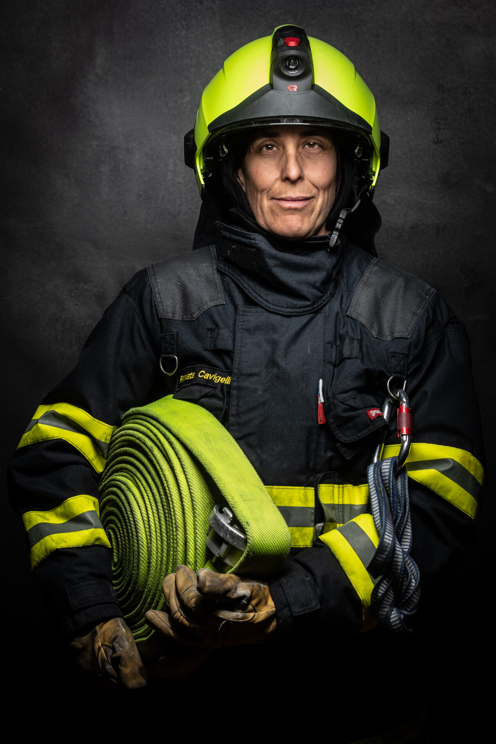Feuerwehrfrau Feuerwehr Chur. Foto: Mattias Nutt